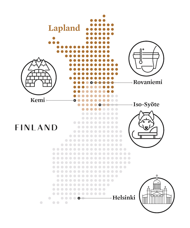 Kaart-van-Finland-met-pictogrammen